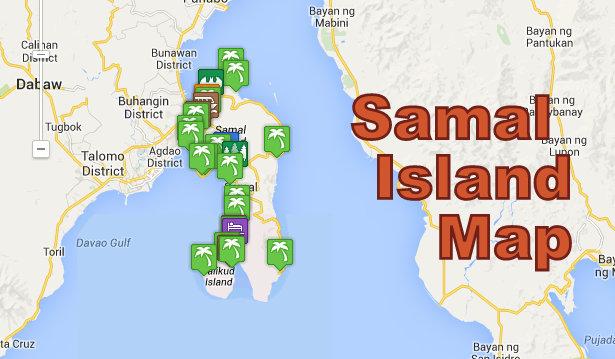 Samal Island Tourism Map | Samal Guide
